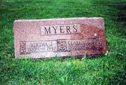 MYERS, CLARENCE J. - Huron County, Ohio | CLARENCE J. MYERS - Ohio Gravestone Photos