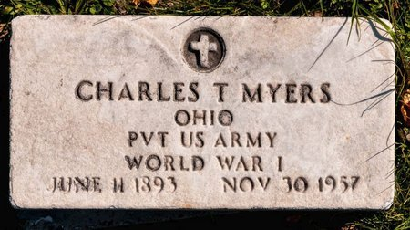 MYERS, CHARLES T - Huron County, Ohio | CHARLES T MYERS - Ohio Gravestone Photos