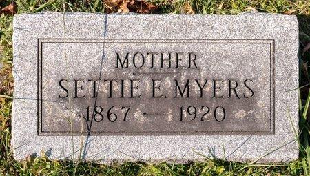MYERS, SETTIE E - Huron County, Ohio | SETTIE E MYERS - Ohio Gravestone Photos