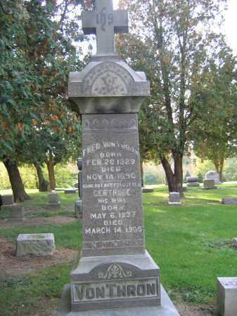 WEIS VON THRON, GERTRUDE - Huron County, Ohio   GERTRUDE WEIS VON THRON - Ohio Gravestone Photos