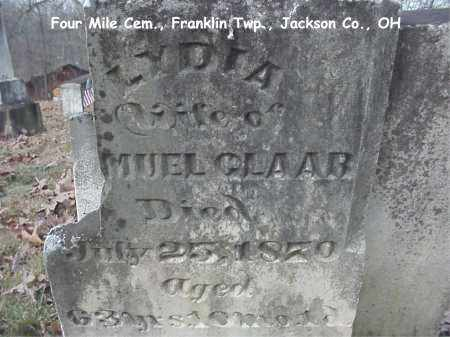 STROPES CLAAR, LYDIA - Jackson County, Ohio   LYDIA STROPES CLAAR - Ohio Gravestone Photos