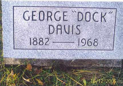 "DAVIS, GEORGE  EDMOND ""DOCK"" - Jackson County, Ohio | GEORGE  EDMOND ""DOCK"" DAVIS - Ohio Gravestone Photos"