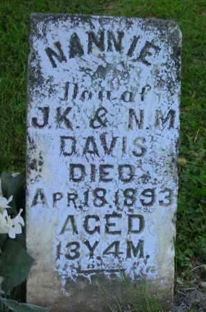 DAVIS, NANNIE - Jackson County, Ohio   NANNIE DAVIS - Ohio Gravestone Photos
