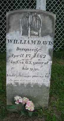 DAVIS, WILLIAM - Jackson County, Ohio   WILLIAM DAVIS - Ohio Gravestone Photos