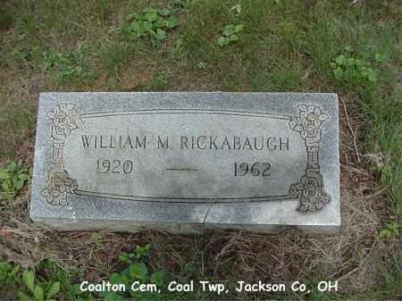 RICKABAUGH, WILLIAM - Jackson County, Ohio | WILLIAM RICKABAUGH - Ohio Gravestone Photos