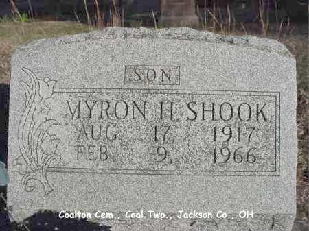 SHOOK, MYRON - Jackson County, Ohio | MYRON SHOOK - Ohio Gravestone Photos