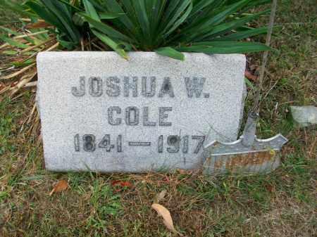 COLE, JOSHUA W - Jefferson County, Ohio | JOSHUA W COLE - Ohio Gravestone Photos