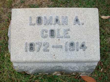 COLE, LOMAN A - Jefferson County, Ohio | LOMAN A COLE - Ohio Gravestone Photos