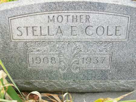 COLE, STELLA E - Jefferson County, Ohio | STELLA E COLE - Ohio Gravestone Photos