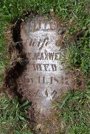 MAXWELL, SARAH - Jefferson County, Ohio | SARAH MAXWELL - Ohio Gravestone Photos
