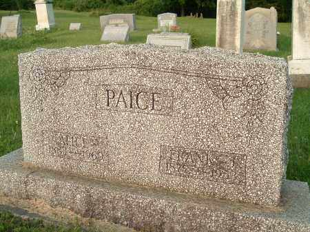 COLE PAICE, ALICE INEZ - Jefferson County, Ohio | ALICE INEZ COLE PAICE - Ohio Gravestone Photos