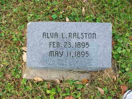 RALSTON, ALVA L - Jefferson County, Ohio | ALVA L RALSTON - Ohio Gravestone Photos