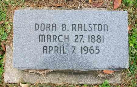 RALSTON, DORA B - Jefferson County, Ohio | DORA B RALSTON - Ohio Gravestone Photos