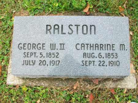 RALSTON, GEORGE WASHINGTON II - Jefferson County, Ohio | GEORGE WASHINGTON II RALSTON - Ohio Gravestone Photos