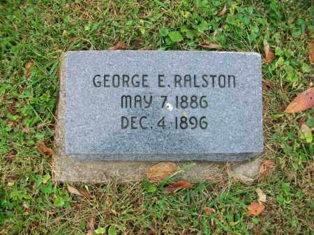 RALSTON, GEORGE E - Jefferson County, Ohio | GEORGE E RALSTON - Ohio Gravestone Photos
