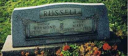 WITHROE RUSSELL, RAYMOND AND MARY MATILDA - Jefferson County, Ohio | RAYMOND AND MARY MATILDA WITHROE RUSSELL - Ohio Gravestone Photos