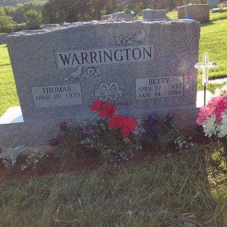 WARRINGTON, BETTY - Jefferson County, Ohio | BETTY WARRINGTON - Ohio Gravestone Photos