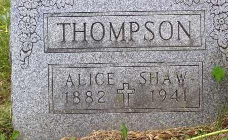 SHAW THOMPSON, ALICE - Knox County, Ohio | ALICE SHAW THOMPSON - Ohio Gravestone Photos