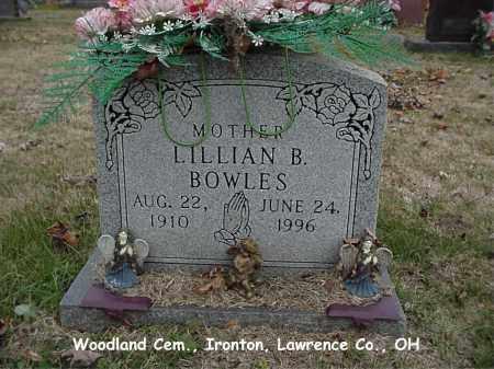 BOWLES, LILLIAN - Lawrence County, Ohio | LILLIAN BOWLES - Ohio Gravestone Photos