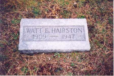HAIRSTON, WATT E. - Lawrence County, Ohio | WATT E. HAIRSTON - Ohio Gravestone Photos