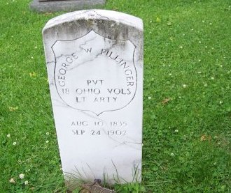 PILLINGER (CW), GEORGE W. - Lawrence County, Ohio | GEORGE W. PILLINGER (CW) - Ohio Gravestone Photos