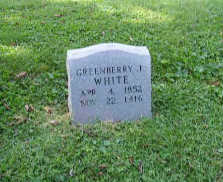 WHITE, GREENBERRY JACKSON - Lawrence County, Ohio | GREENBERRY JACKSON WHITE - Ohio Gravestone Photos