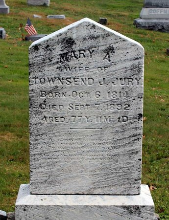 JURY, MARY A. - Licking County, Ohio | MARY A. JURY - Ohio Gravestone Photos