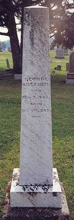 KREAGER, GEORGE - Licking County, Ohio | GEORGE KREAGER - Ohio Gravestone Photos