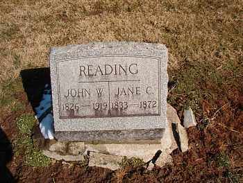 WEBSTER READING, JANE CHARLOTTE - Licking County, Ohio | JANE CHARLOTTE WEBSTER READING - Ohio Gravestone Photos