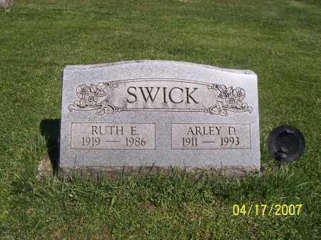 SWICK, ARLEY D - Licking County, Ohio | ARLEY D SWICK - Ohio Gravestone Photos