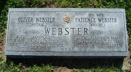 WRIGHT WEBSTER, PATIENCE - Licking County, Ohio | PATIENCE WRIGHT WEBSTER - Ohio Gravestone Photos