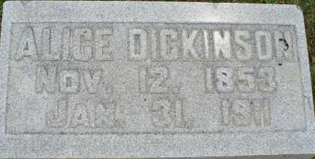 DICKINSON, ALICE - Logan County, Ohio | ALICE DICKINSON - Ohio Gravestone Photos