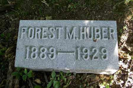 HUBER, FOREST M - Logan County, Ohio | FOREST M HUBER - Ohio Gravestone Photos
