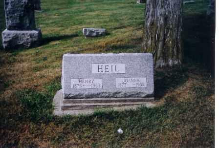 HEIL, JOANNA - Logan County, Ohio | JOANNA HEIL - Ohio Gravestone Photos