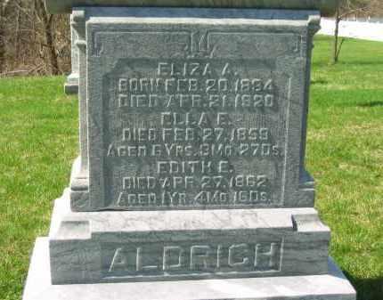 ALDRICH, EDITH E. - Lorain County, Ohio | EDITH E. ALDRICH - Ohio Gravestone Photos