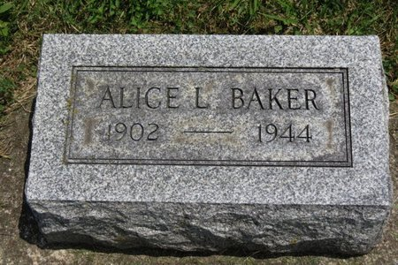 BAKER, ALICE L. - Lorain County, Ohio | ALICE L. BAKER - Ohio Gravestone Photos
