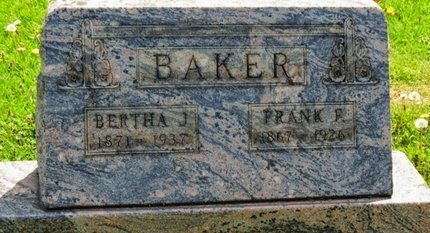 BAKER, BERTHA J. - Lorain County, Ohio | BERTHA J. BAKER - Ohio Gravestone Photos