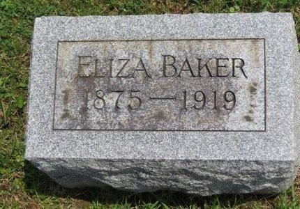 BAKER, ELIZA - Lorain County, Ohio | ELIZA BAKER - Ohio Gravestone Photos