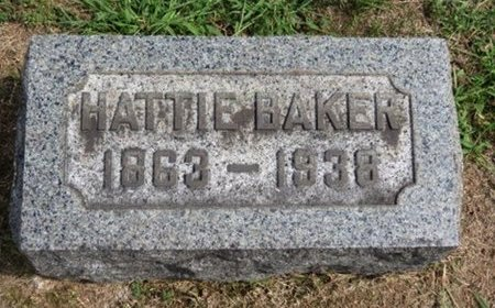 BAKER, HATTIE - Lorain County, Ohio | HATTIE BAKER - Ohio Gravestone Photos