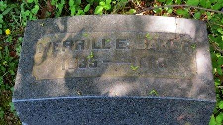BAKER, MERRILL E. - Lorain County, Ohio | MERRILL E. BAKER - Ohio Gravestone Photos