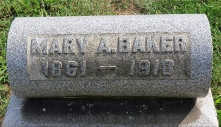 BAKER, MARY A. - Lorain County, Ohio | MARY A. BAKER - Ohio Gravestone Photos