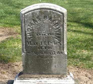 BALDWIN, THOMAS - Lorain County, Ohio   THOMAS BALDWIN - Ohio Gravestone Photos