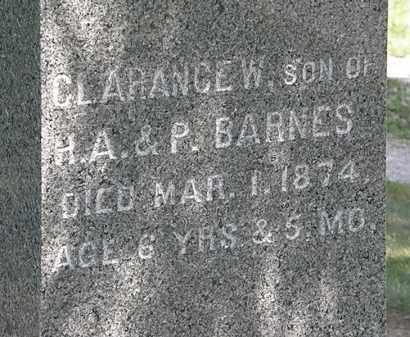 BARNES, CLARANCE W. - Lorain County, Ohio   CLARANCE W. BARNES - Ohio Gravestone Photos