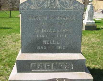 BARNES, CALISTA A. - Lorain County, Ohio | CALISTA A. BARNES - Ohio Gravestone Photos