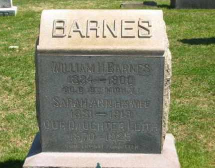 BARNES, WILLIAM H. - Lorain County, Ohio | WILLIAM H. BARNES - Ohio Gravestone Photos