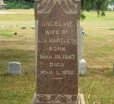 BARTLETT, ANGELINE - Lorain County, Ohio | ANGELINE BARTLETT - Ohio Gravestone Photos