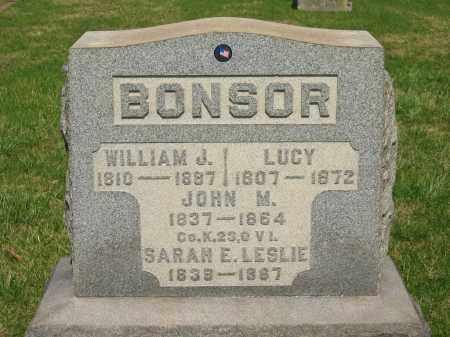 BONSOR, WILLIAM J. - Lorain County, Ohio | WILLIAM J. BONSOR - Ohio Gravestone Photos