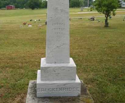 BRECKENRIDGE, JUSTIN - Lorain County, Ohio   JUSTIN BRECKENRIDGE - Ohio Gravestone Photos