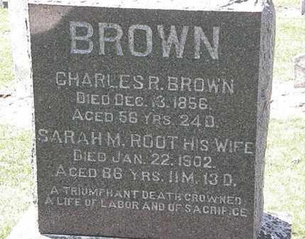 ROOT BROWN, SARAH M. - Lorain County, Ohio | SARAH M. ROOT BROWN - Ohio Gravestone Photos