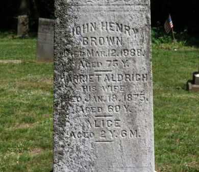 ALDRICH BROWN, HARRIET - Lorain County, Ohio | HARRIET ALDRICH BROWN - Ohio Gravestone Photos
